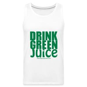 Drink Green Juice - Men's Ringer Tee - Men's Premium Tank
