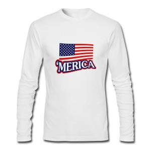 Women's 'Merica White Tank - Men's Long Sleeve T-Shirt by Next Level