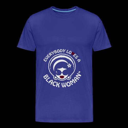 Everybody Loves A Black WOMAN (version 1 - Flowy Tank - Men's Premium T-Shirt