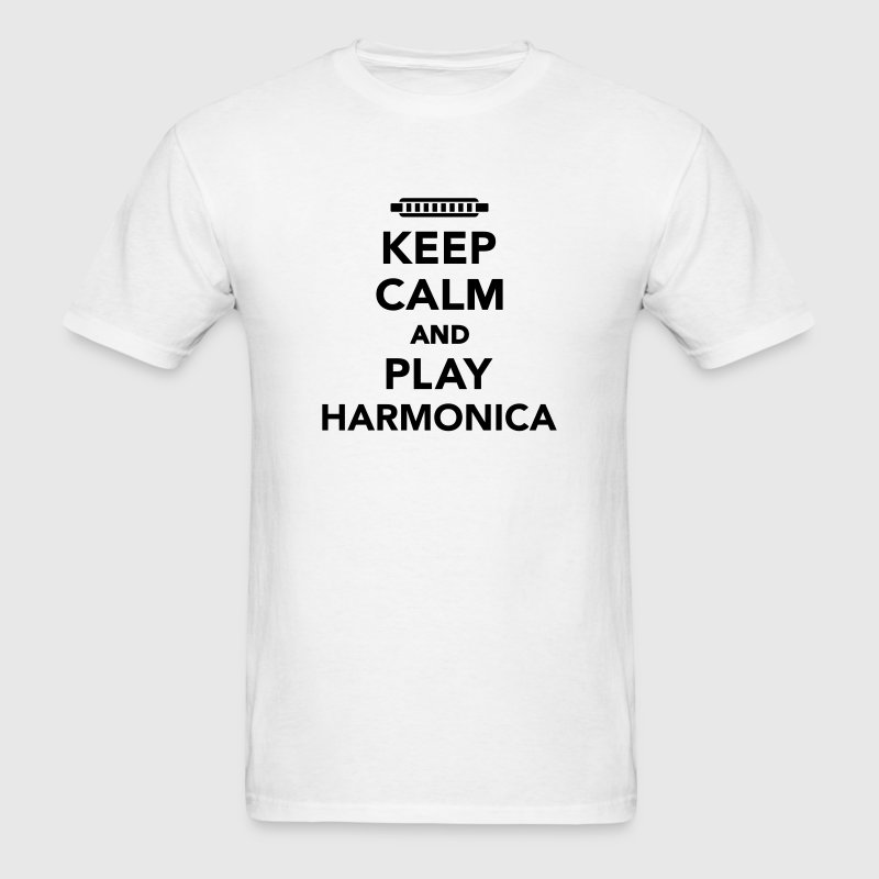 Keep calm and Play Harmonica T-Shirts - Men's T-Shirt