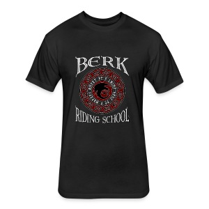 Berk Riding School - Fitted Cotton/Poly T-Shirt by Next Level