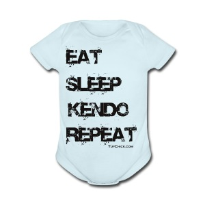 Eat Sleep Kendo Repeat - Women's - Short Sleeve Baby Bodysuit