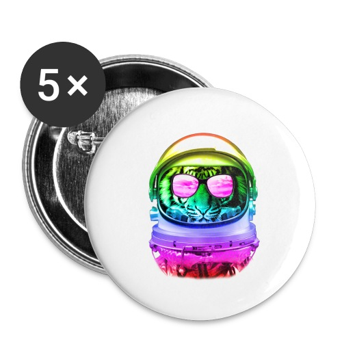 Cool Space Tiger - Small Buttons