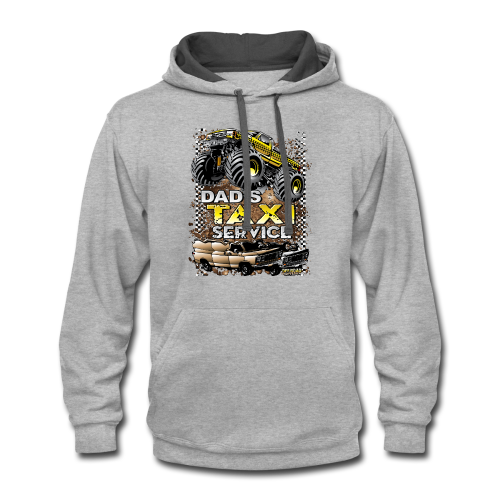 Dad's Taxi Servce - Contrast Hoodie