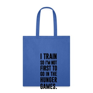 I train so I'm not first to go | Mens Jumper - Tote Bag