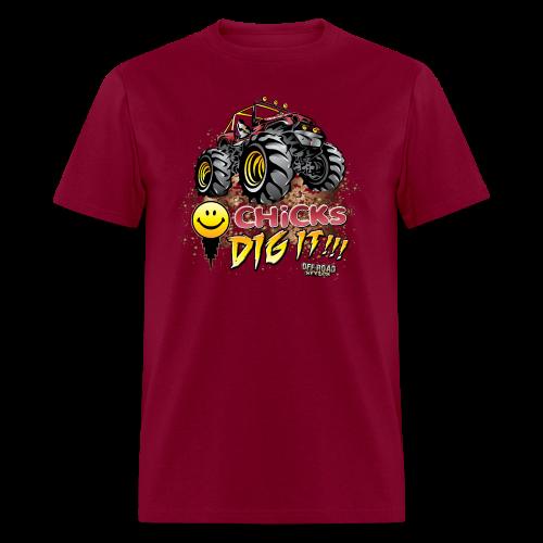 Chick Dig It Mud Truck - Men's T-Shirt