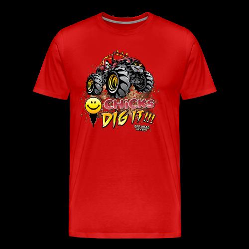 Chick Dig It Mud Truck - Men's Premium T-Shirt