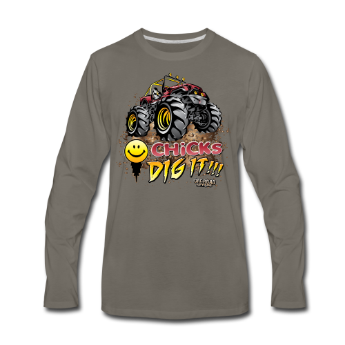 Chick Dig It Mud Truck - Men's Premium Long Sleeve T-Shirt