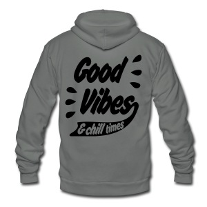 GOOD VIBES TIE-DYE - Unisex Fleece Zip Hoodie by American Apparel