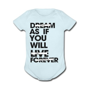 DREAM / LIVE TIE-DYE - Short Sleeve Baby Bodysuit