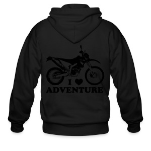 WRR Luv Adventure - White Logo - Men's Zip Hoodie