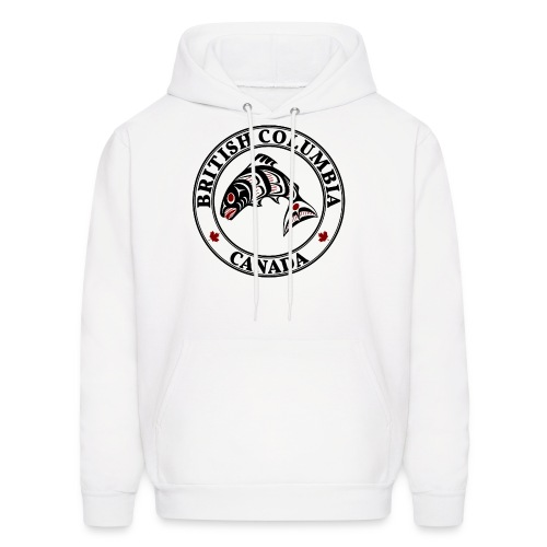 Northwest Pacific coast Haida art Salmon BC light - Men's Hoodie