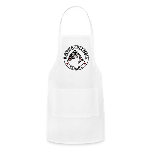 Northwest Pacific coast Haida art Salmon BC light - Adjustable Apron