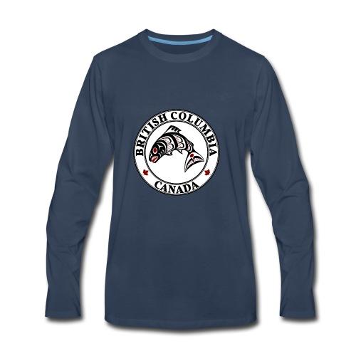 Northwest Pacific coast Haida art Salmon BC - Men's Premium Long Sleeve T-Shirt