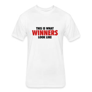Winner T-Shirt (White) Women - Fitted Cotton/Poly T-Shirt by Next Level