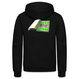 Geek History Lesson Official T-Shirt (Women) - Unisex Fleece Zip Hoodie by American Apparel