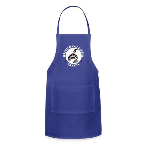 Northwest Pacific coast Haida art Killer whale BC dark - Adjustable Apron