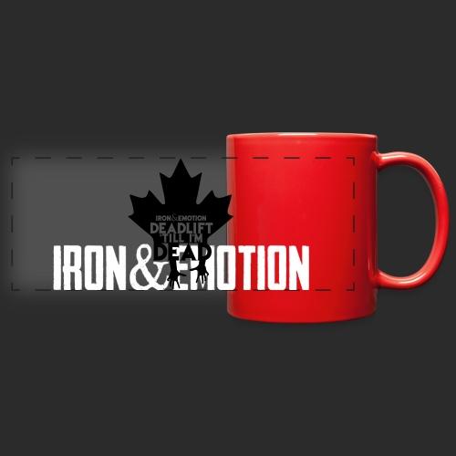 IRON&EMOTION's DEADLIFT 'TILL I'M DEAD - CANADIAN VERSION - Full Color Panoramic Mug