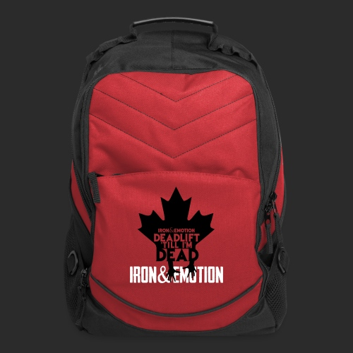IRON&EMOTION's DEADLIFT 'TILL I'M DEAD - CANADIAN VERSION - Computer Backpack