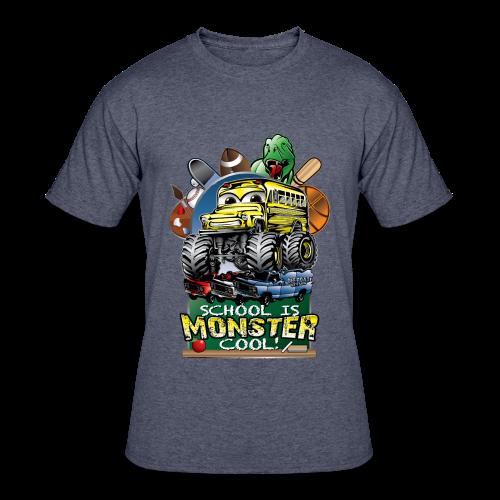 Monster School Bus FRONT - Men's 50/50 T-Shirt
