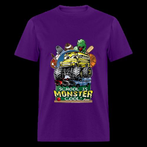 Monster School Bus FRONT - Men's T-Shirt