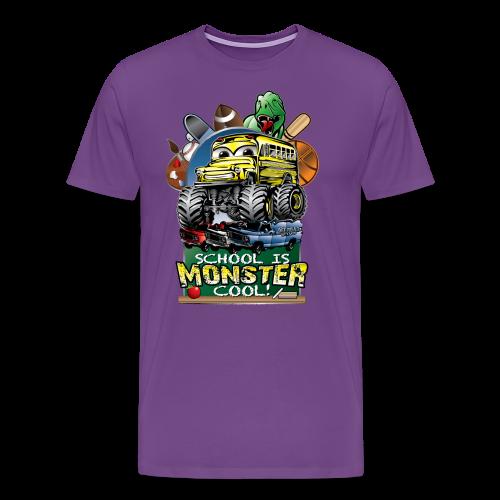 Monster School Bus FRONT - Men's Premium T-Shirt