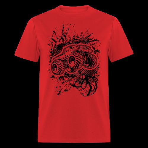 Grunge Monster Truck FRONT - Men's T-Shirt