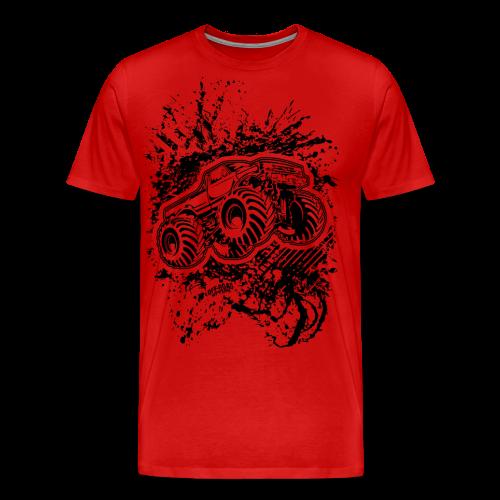 Grunge Monster Truck FRONT - Men's Premium T-Shirt