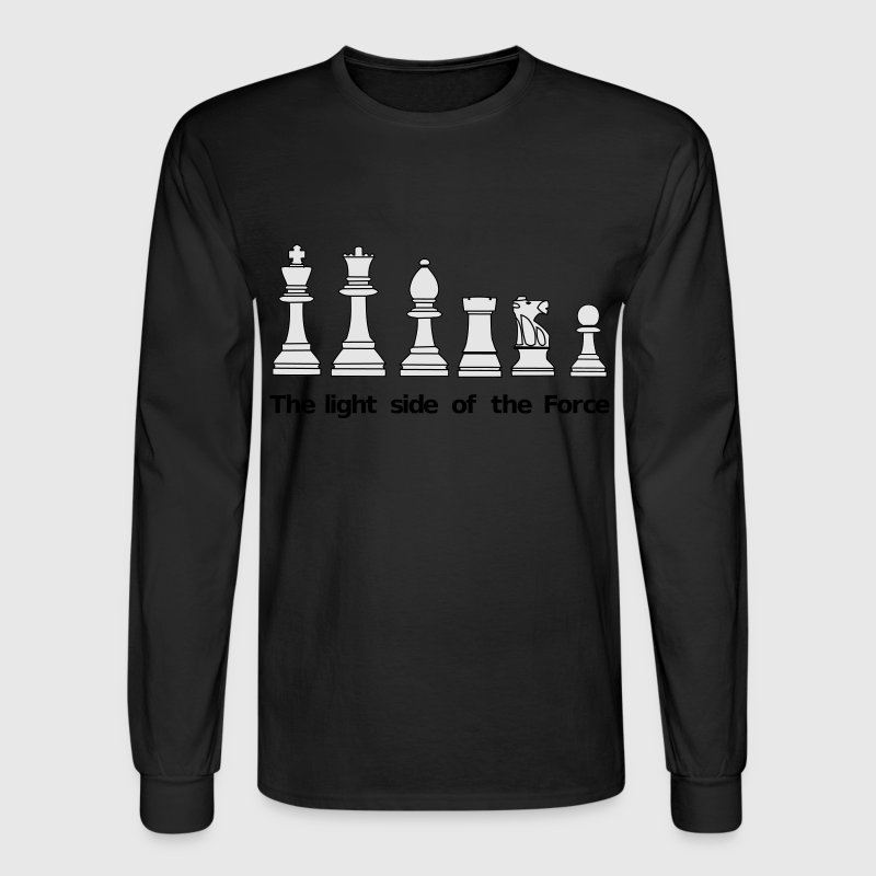 The light side of the Force, chess, pawns Long Sleeve Shirts - Men's Long Sleeve T-Shirt