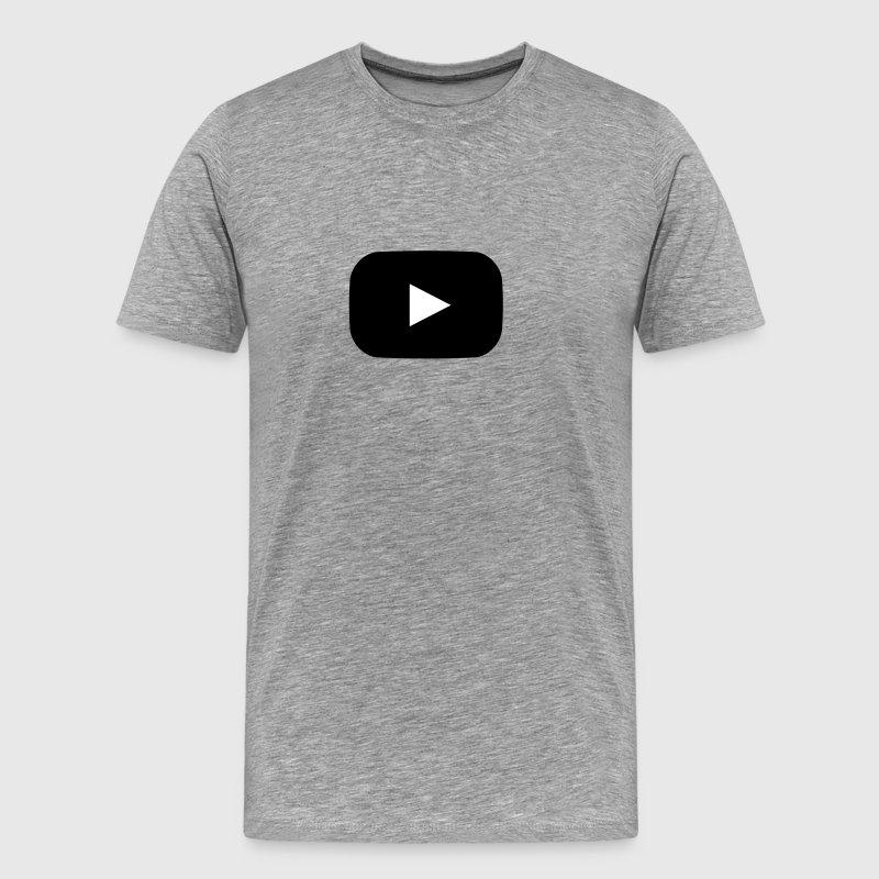 YouTube Style Play Button - Men's Premium T-Shirt