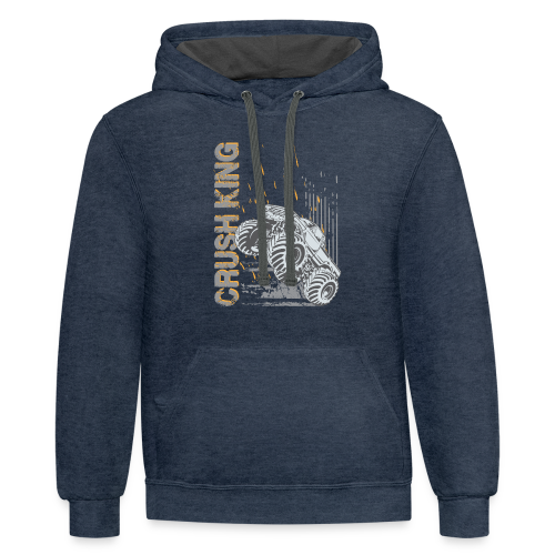Monster Truck Crush - Contrast Hoodie