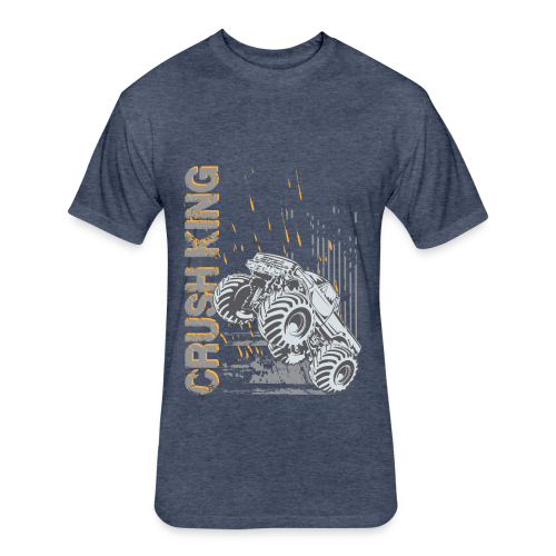 Monster Truck Crush - Fitted Cotton/Poly T-Shirt by Next Level