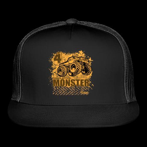 Kids Monster Truck Shirt - Trucker Cap