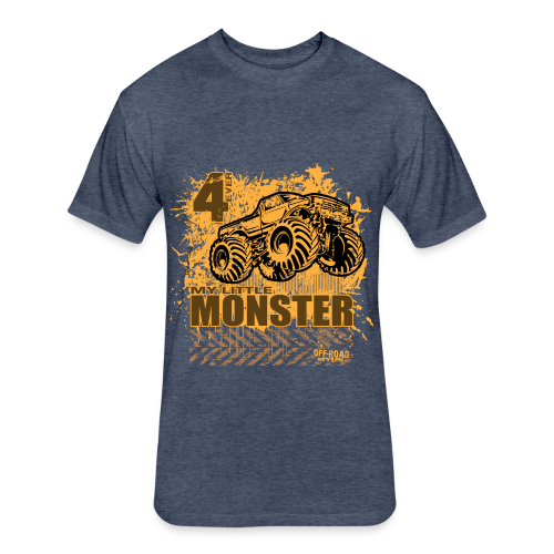 Kids Monster Truck Shirt - Fitted Cotton/Poly T-Shirt by Next Level