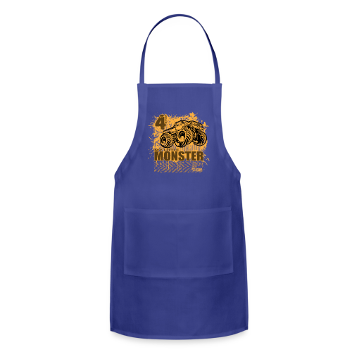 Kids Monster Truck Shirt - Adjustable Apron