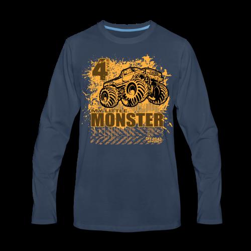 Kids Monster Truck Shirt - Men's Premium Long Sleeve T-Shirt