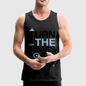TURN THE BASS UP - Music Crossfader & Speaker DJ - Men's Premium Tank