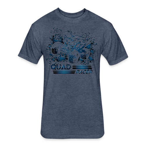 Quad Racing Shirt - Fitted Cotton/Poly T-Shirt by Next Level