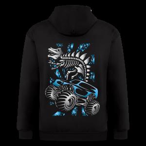 Monster SkeleT-Rex Truck - Men's Zip Hoodie