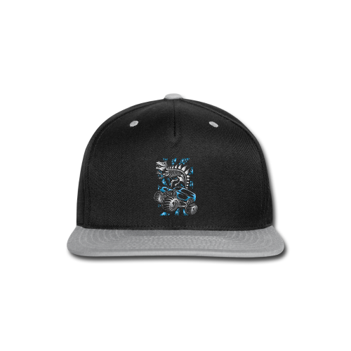 Monster SkeleT-Rex Truck - Snap-back Baseball Cap