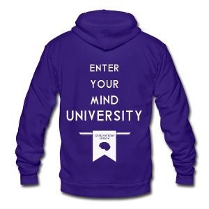 Enter Your Mind University - Geek History Lesson T-Shirt (Women) - Unisex Fleece Zip Hoodie by American Apparel