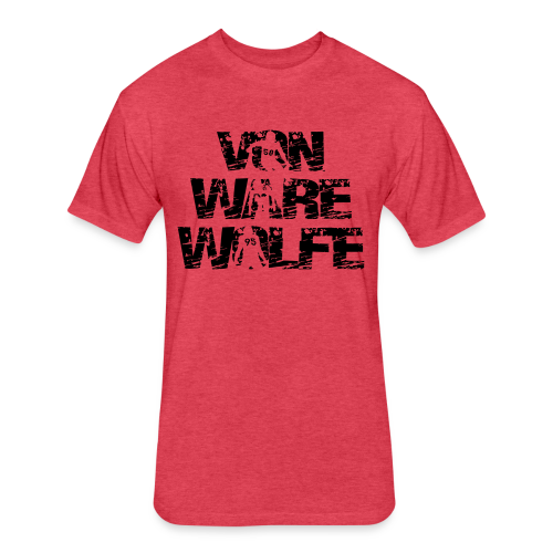 Von Ware Wolfe - Mens - T-shirt - Fitted Cotton/Poly T-Shirt by Next Level