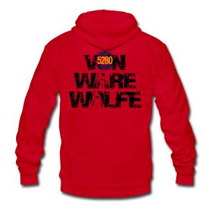 Von Ware Wolfe - Mens - T-shirt - Unisex Fleece Zip Hoodie by American Apparel