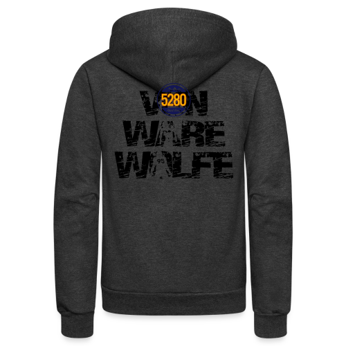 Von Ware Wolfe - Mens - T-shirt - Unisex Fleece Zip Hoodie
