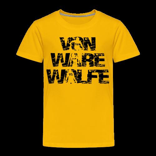 Von Ware Wolfe - Mens - T-shirt - Toddler Premium T-Shirt