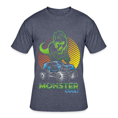 Kids Dinosaur Monster Truck - Men's 50/50 T-Shirt