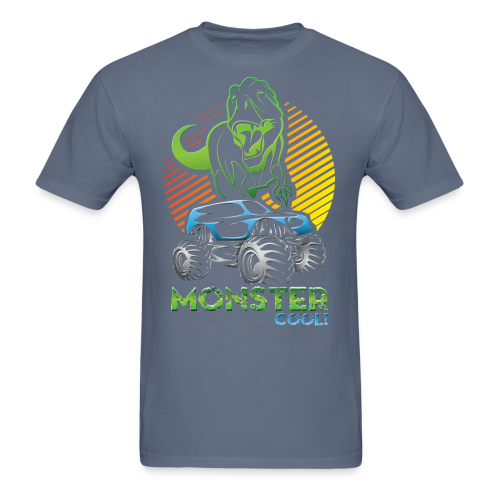 Kids Dinosaur Monster Truck - Men's T-Shirt