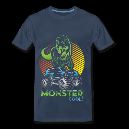 Kids Dinosaur Monster Truck - Men's Premium T-Shirt