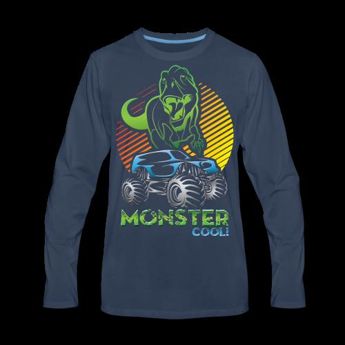 Kids Dinosaur Monster Truck - Men's Premium Long Sleeve T-Shirt