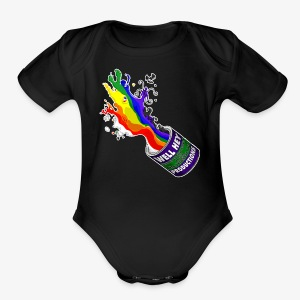 Tenebris Regina Paint Bucket Kid's T-Shirt - Short Sleeve Baby Bodysuit